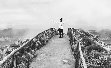 Travel photo of Megan atop Lagoa do Canario, Azores, Portugal